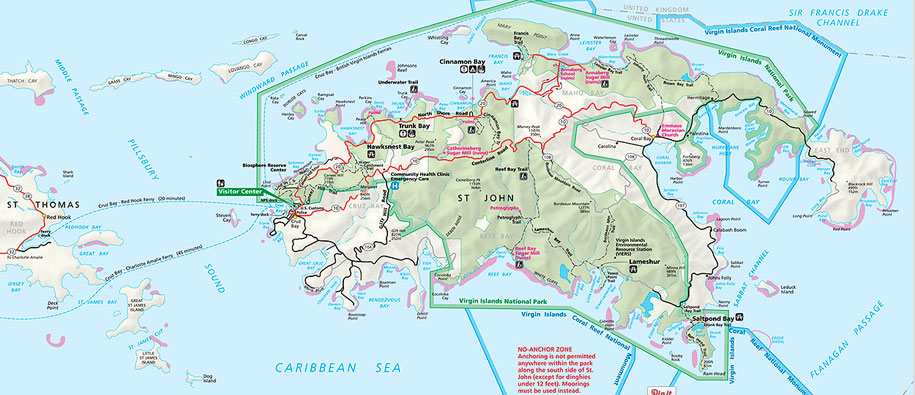 st john map st john info usvi island travel information